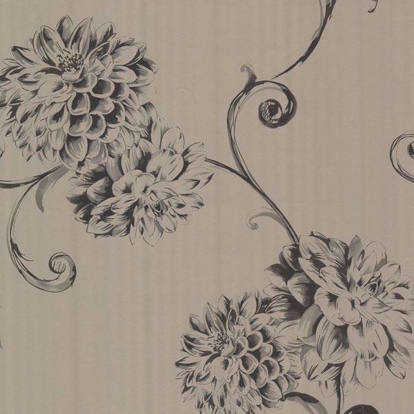 Deliah Sepia Watercolor Dahlia