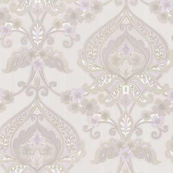 Ashbury Lavender Paisley Damask