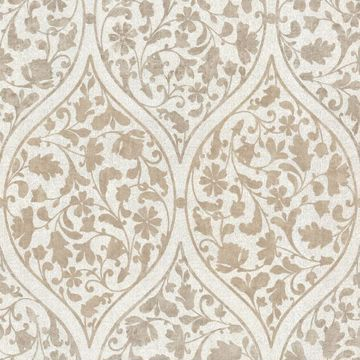 Adelaide Light Brown Ogee Floral