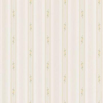 Rosebud Light Green Floral Stripe