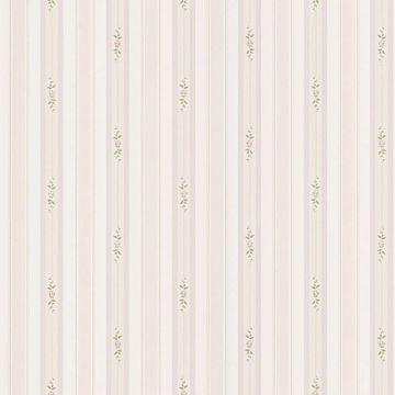 Rosebud Lavender Floral Stripe