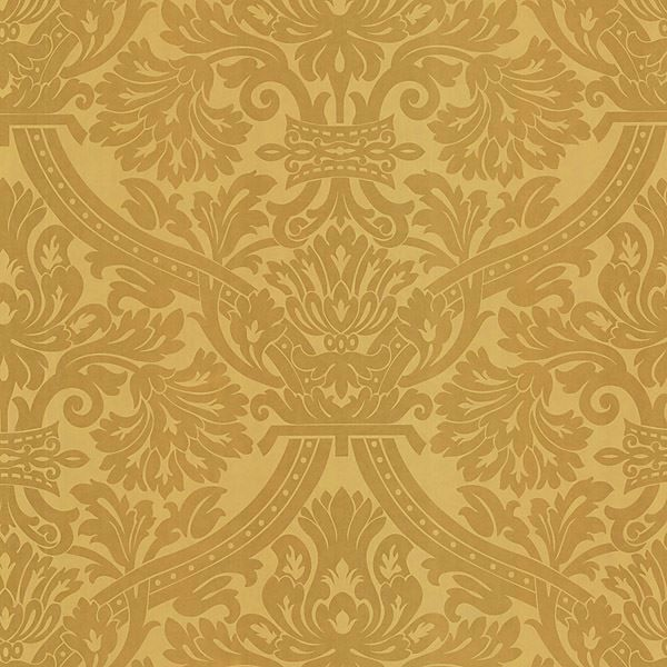 Hasib Gold Ogee Damask