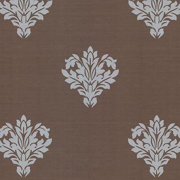 Astoria Brown Leafy Damask