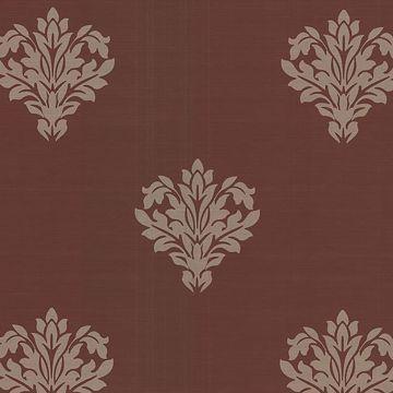 Astoria Dark Brown Leafy Damask