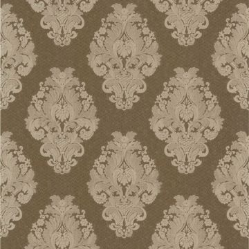 Bromley Brown Satin Damask