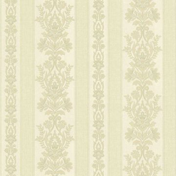 Kensington Light Green Damask Stripe