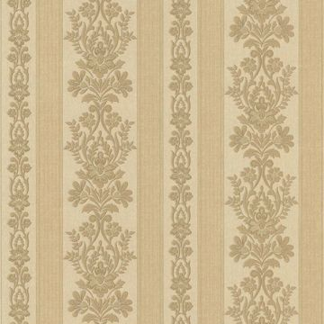 Kensington Brass Damask Stripe