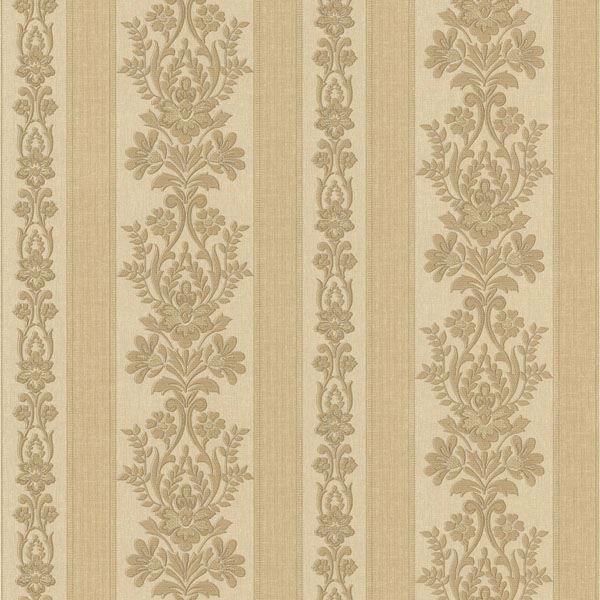 Kensington Brass Damask Stripe