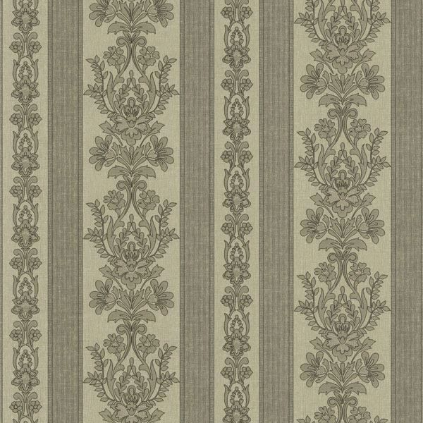 Kensington Grey Damask Stripe