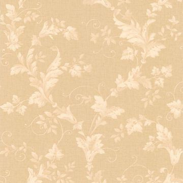 Thames Beige Leafy Scroll