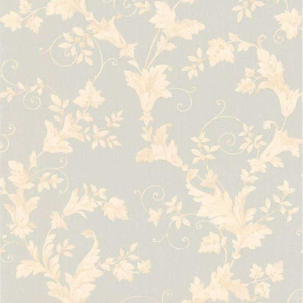 Thames Light Grey Leafy Scroll