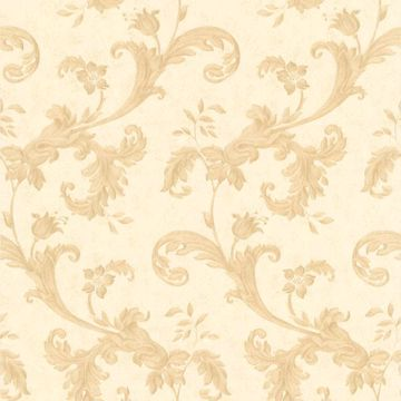 Isleworth Beige Floral Scroll