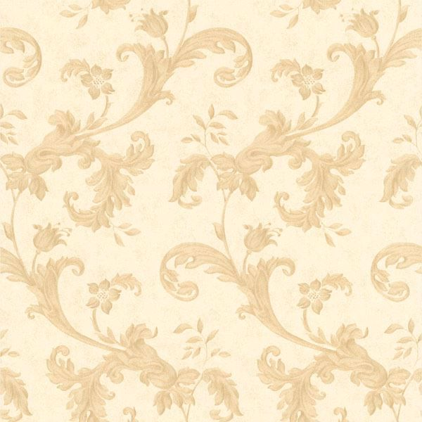 Isleworth Beige Floral Scroll
