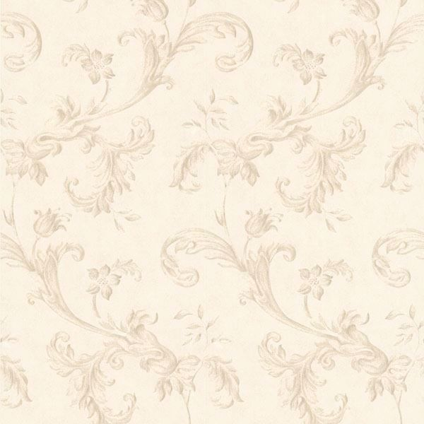 Isleworth Taupe Floral Scroll