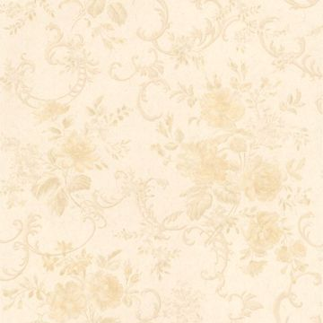 Highbury Cream Floral Scroll