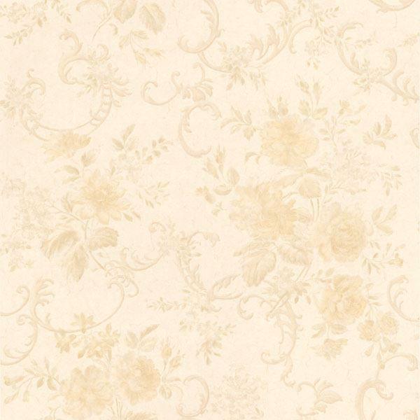Highbury Cream Floral Scroll