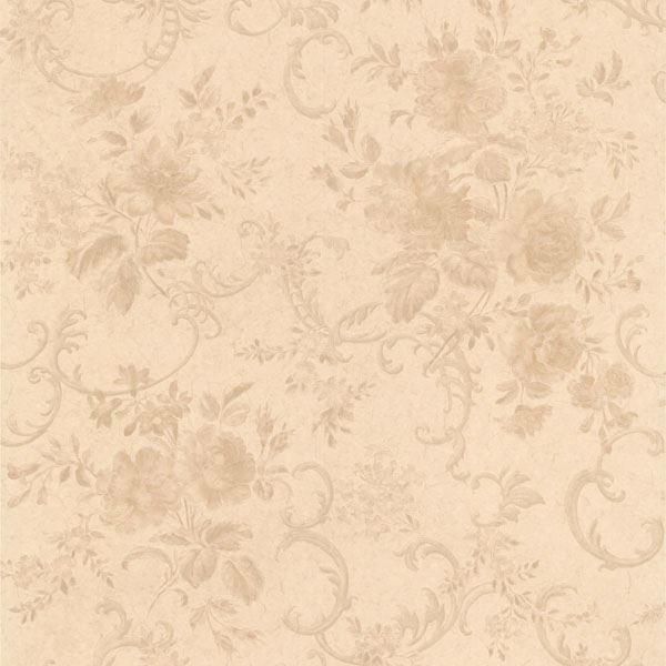 Highbury Champagne Floral Scroll