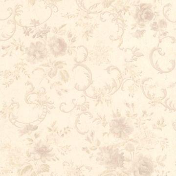Highbury Mauve Floral Scroll
