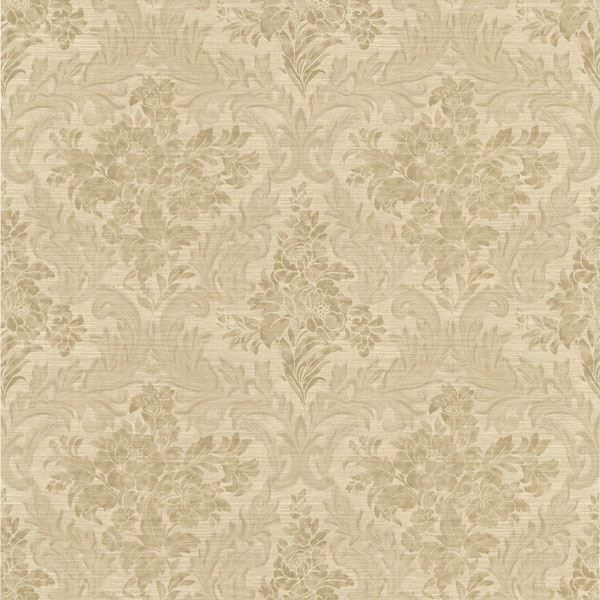 Cotswold Brass Floral Damask
