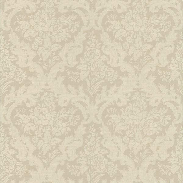 Cotswold Taupe Floral Damask