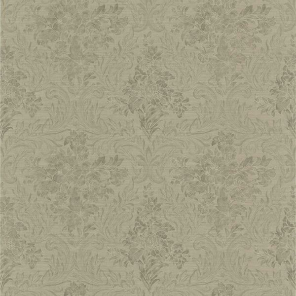 Cotswold Silver Floral Damask