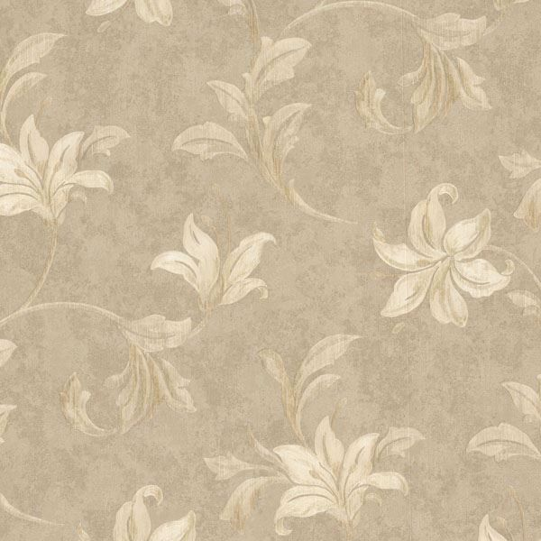 Palace Beige Floral Scroll
