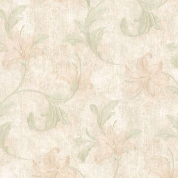 Palace Light Green Floral Scroll