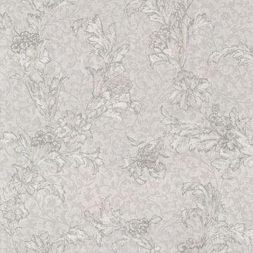 Empire Light Grey Floral Scroll