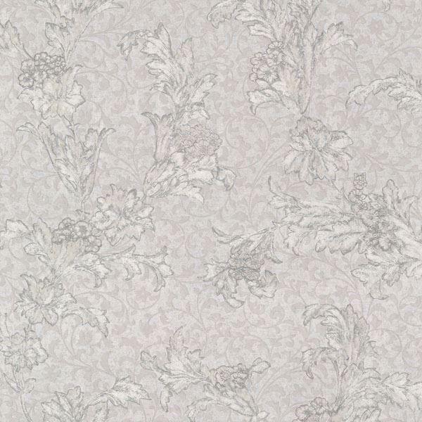 Empire Light Grey Floral Scroll