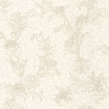 Empire Cream Floral Scroll