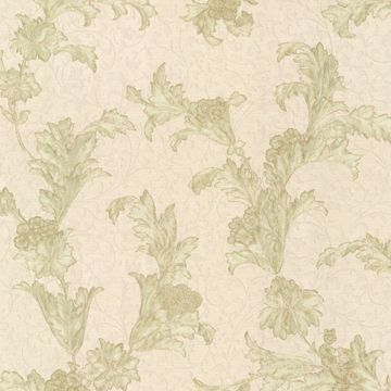 Empire Olive Floral Scroll