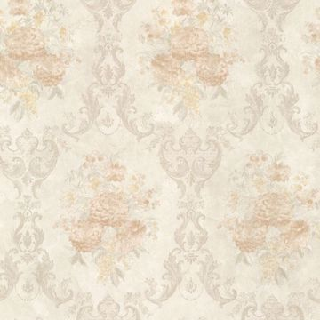 Dutchess Peach Floral Damask