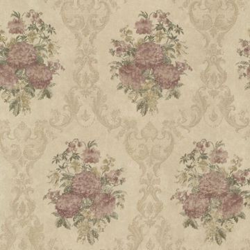Dutchess Brass Floral Damask