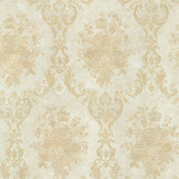 Dutchess Gold Floral Damask