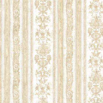 Majesty Beige Damask Stripe
