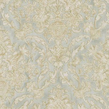 Majestic Mint Scrolling Damask