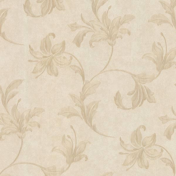 Palace Neutral Floral Scroll