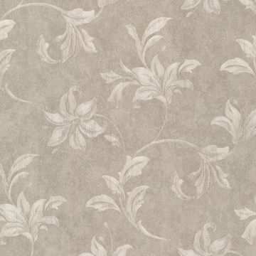 Palace Taupe Floral Scroll