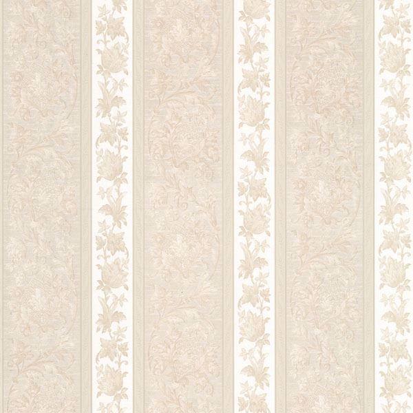 Sublime Cream Scroll Stripe