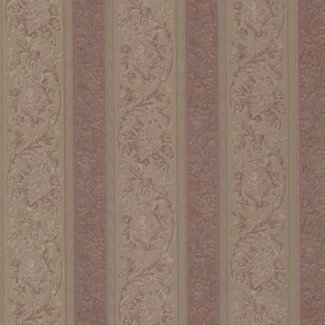 Sublime Mauve Scroll Stripe
