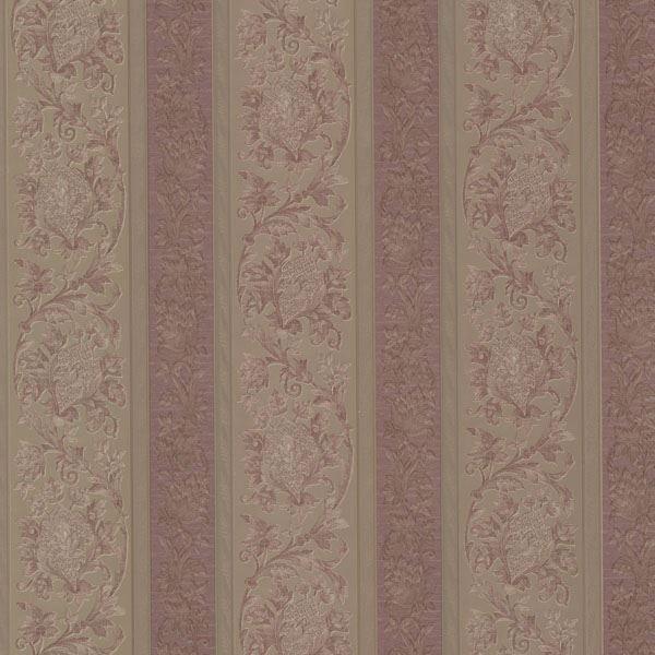Sublime Mauve Scroll Stripe