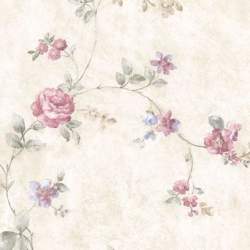 Mary Pink Floral Vine