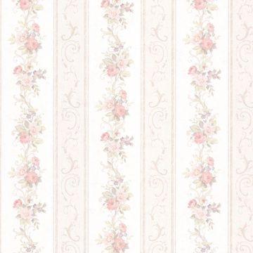 Lorelai Blush Floral Stripe