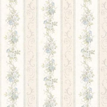 Lorelai Light Blue Floral Stripe