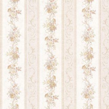 Lorelai Taupe Floral Stripe