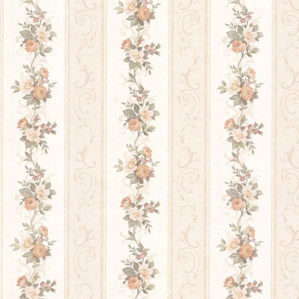 Lorelai Peach Floral Stripe