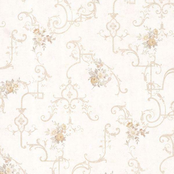 Lori Taupe Floral Trellis