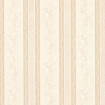 Trish Cream Satin Floral Scroll Stripe