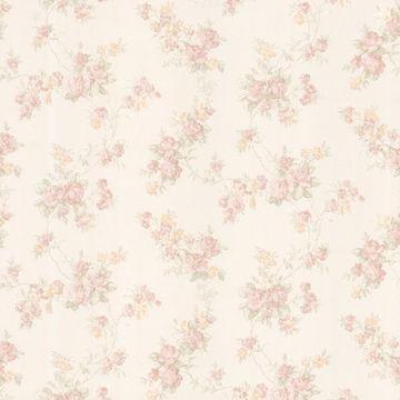 Tiffany Blush Satin Floral Trail