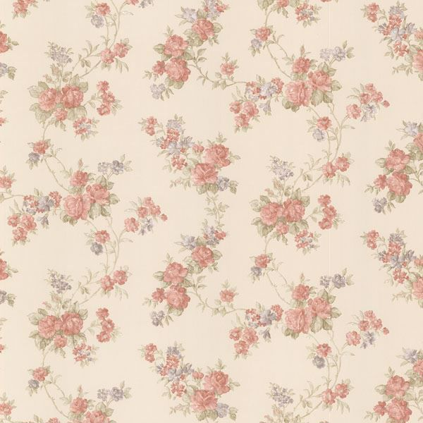 Tiffany Peach Satin Floral Trail